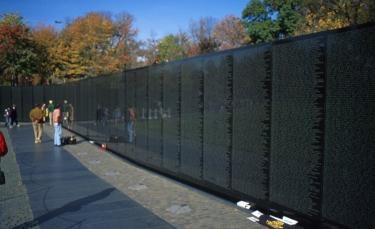 Het Vietnam War Memorial in Washington