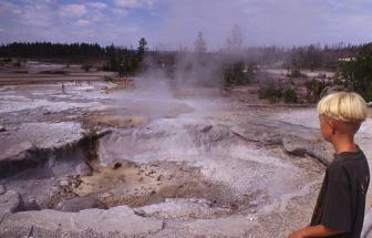 Warme bron in Yellowstone