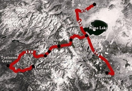 Yosemite naar Mammoth Lakes