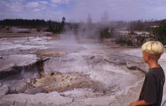 Warme bron in Yellowstone