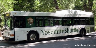 De Yosemite shuttlebus